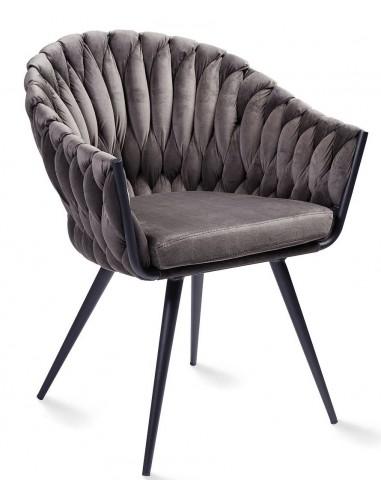 Krēsls ANDREA VIC pelēki brūns