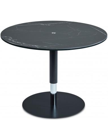 Kafijas galdiņš VITO Ø80 melns ar baltu